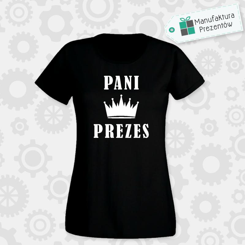 Pani Prezes - koszulka damska czarna