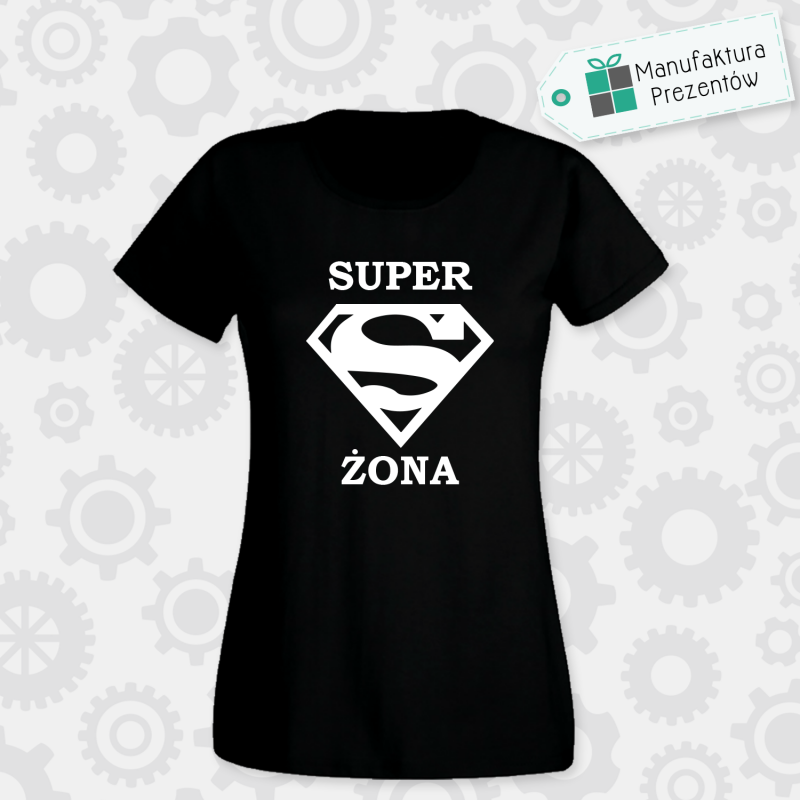 Superżona - koszulka damska czarna