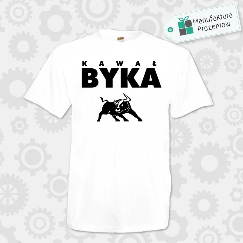 Kawał Byka - koszulka męska biała