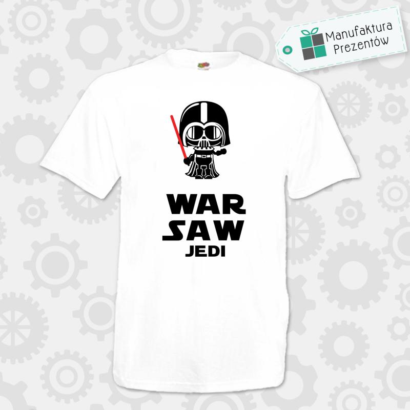 Warsaw Jedi - koszulka męska biała