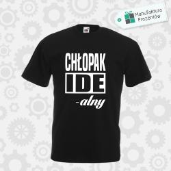 Chłopak Idealny - koszulka męska czarna