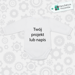 Spersonalizowane body niemowlęce z własnym nadrukiem