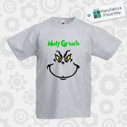 Mały Grinch - koszulka chłopięca szara