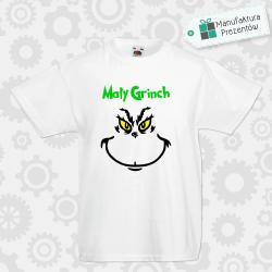 Mały Grinch - koszulka chłopięca biała