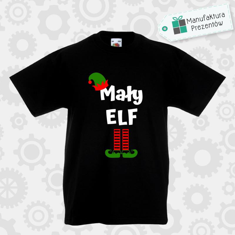 Mały Elf - koszulka chłopięca czarna