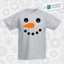 Bałwanek - koszulka chłopięca szara