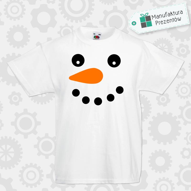 Bałwanek - koszulka chłopięca biała