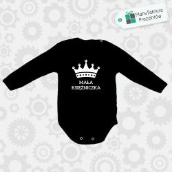 Czarne body dziecięce z długim rękawem - Mała księżniczka