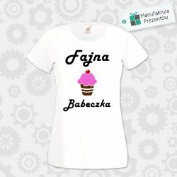 Fajna Babeczka - koszulka damska biała