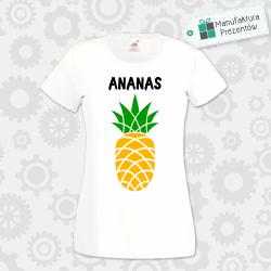 Ananas ! - koszulka damska biała