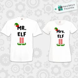 Mr Elf i Mrs Elf- zestaw dla Par biała