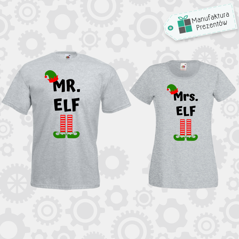 Mr Elf i Mrs Elf- zestaw dla Par szara