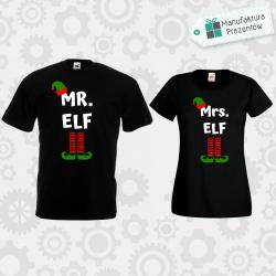 Mr Elf i Mrs Elf- zestaw dla Par czarna