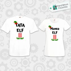 Tata Elf i Mama Elf - zestaw dla Par biały