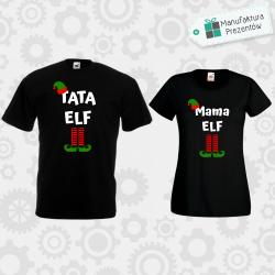 Tata Elf i Mama Elf - zestaw dla Par czarny