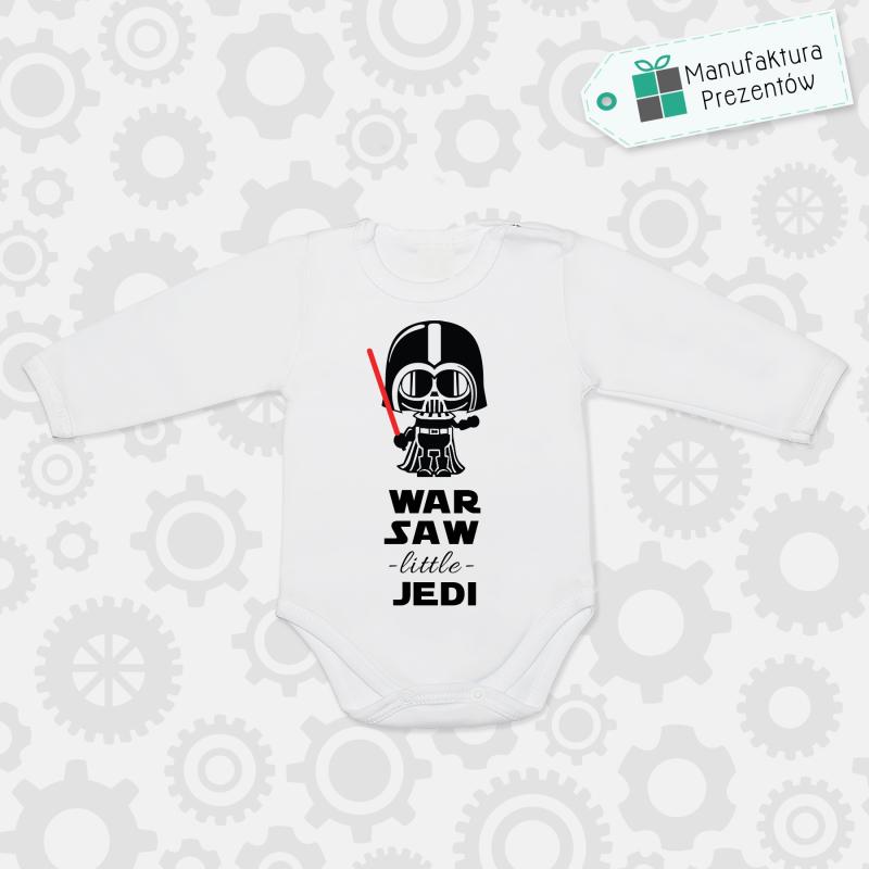 Białe body dziecięce z długim rękawem - Warsaw Litlle Jedi
