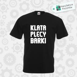 Klata Plecy Barki - koszulka męska czarna