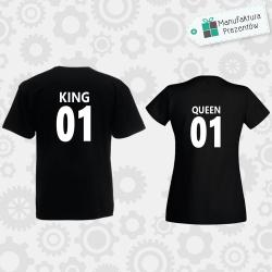 King and Queen 01 - 2 koszulki dla par czarne