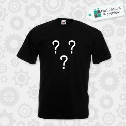 Spersonalizowana koszulka męska z własnym wzorem czarna