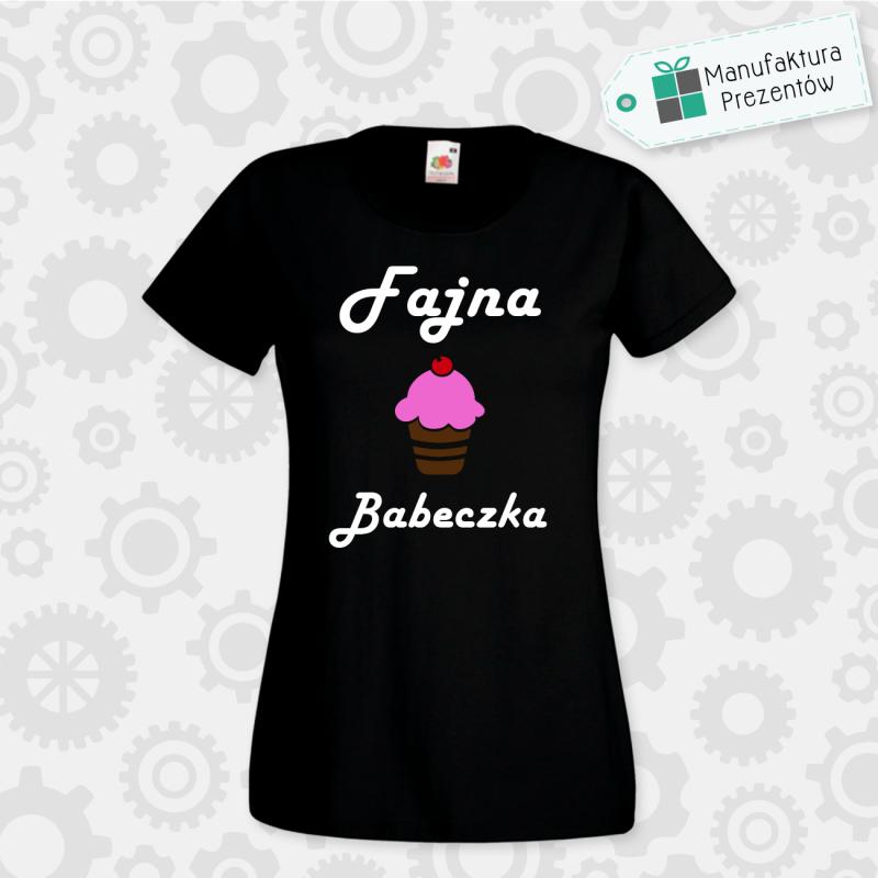 Fajna Babeczka - koszulka damska czarna