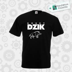 Dobry Dzik - koszulka męska czarna